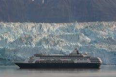 El cruzar del glaciar de Hubbard Imagen de archivo libre de regalías