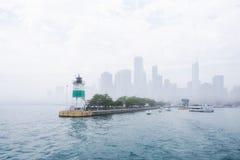 El cruzar del lago Michigan imagenes de archivo