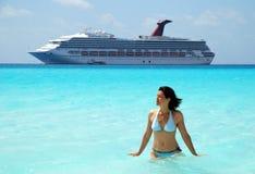 El cruzar en el Caribe Foto de archivo libre de regalías