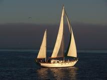 El cruzar hermoso del barco de vela Imagenes de archivo