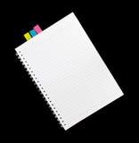 El cuaderno aislado para escribe Foto de archivo libre de regalías