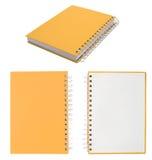 El cuaderno en blanco para escribe anythings en él Fotos de archivo