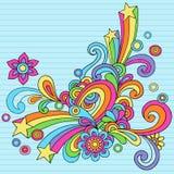 El cuaderno psicodélico abstracto Doodles vector Fotos de archivo