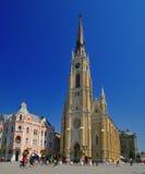 El cuadrado central en Novi Sad Fotos de archivo