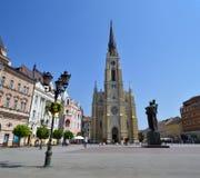 El cuadrado central en Novi Sad Fotografía de archivo