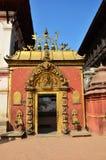 El cuadrado de Bhaktapur Durbar es una ciudad antigua de Newar Imagen de archivo libre de regalías
