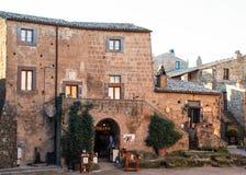 El cuadrado de civita di bagnoregio, ciudad de muerte Imagenes de archivo