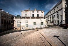 El cuadrado de la Lisboa vieja portugal fotografía de archivo libre de regalías