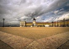 El cuadrado de Lisboa simetría portugal fotografía de archivo