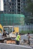 El cuadrado de reparación del trabajador en China Asia de Shenzhen Imagen de archivo