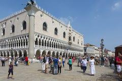 El cuadrado de St Mark en Venecia Fotos de archivo