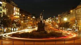El cuadrado de Wenceslao, Praga Fotos de archivo