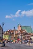 El cuadrado del castillo en Varsovia Imagenes de archivo