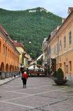 El cuadrado del consejo, ciudad de Brasov, Rumania Fotos de archivo libres de regalías