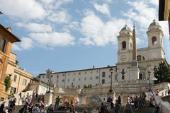 El cuadrado español - Roma Fotos de archivo