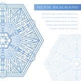 El cuadrado invita a la plantilla Invitación del vector con el elemento del diseño de la mandala Fotos de archivo