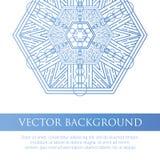 El cuadrado invita a la plantilla Invitación del vector con el elemento del diseño de la mandala Fotografía de archivo libre de regalías