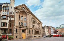 El cuadrado más grande de Riga Imágenes de archivo libres de regalías