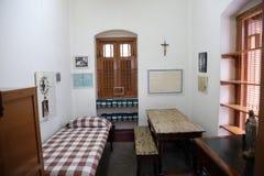 El cuarto anterior de madre Teresa en la casa de la madre en Kolkata Foto de archivo