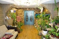 El cuarto con el acuario Fotografía de archivo libre de regalías