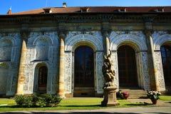El cuarto de bola es un edificio del renacimiento en los jardines reales del castillo de Praga, República Checa Imagen de archivo