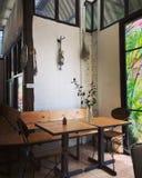 El cuarto de la esquina del café Fotografía de archivo