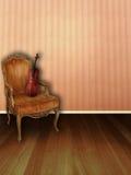 El cuarto de la música del melocotón Fotografía de archivo libre de regalías