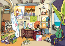 El cuarto de la persona que practica surf Imagen de archivo