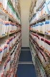 El cuarto de los expedientes Imagenes de archivo
