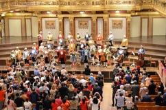 El cuarto de oro en la casa del concierto de Viena Imágenes de archivo libres de regalías
