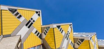 El cubo contiene el cielo de Rotterdam en línea Foto de archivo libre de regalías