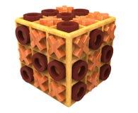 El cubo de madera de la tic-tac-punta Imagenes de archivo