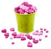 El cubo de Valentine Metallic llenado dirige factores. Imagen de archivo
