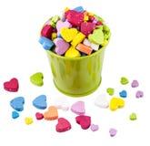 El cubo de Valentine Metallic llenado dirige factores. Imagenes de archivo