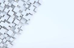 El cubo geométrico blanco forma el fondo foto de archivo