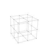 El cubo Made es Mesh Polygonal Element Imagenes de archivo