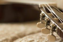 El cuello de la guitarra Fotografía de archivo