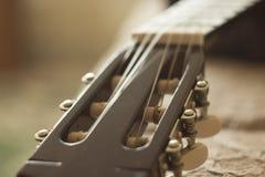 El cuello de la guitarra Fotos de archivo libres de regalías