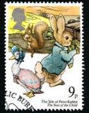 El cuento del sello BRITÁNICO de Peter Rabbit Fotografía de archivo libre de regalías