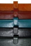 El cuero colorido cubre el primer foto de archivo