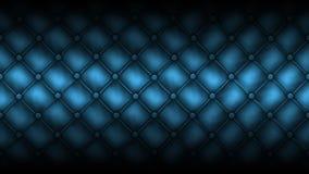 El cuero de la textura acolchó un sofá. Color azul Imagen de archivo