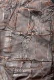 El cuero junta las piezas de textura Foto de archivo libre de regalías