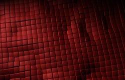 El cuero rojo cubica textura del fondo Ilustración del Vector