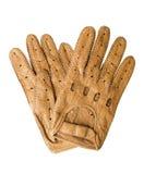 El cuero se divierte guantes | Aislado Imagen de archivo