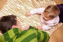 El cuid losar nin¢os Fotografía de archivo