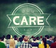 El cuidado protege concepto seguro del servicio de la atención sanitaria Imagenes de archivo
