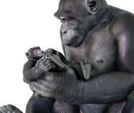 El cuidar a niños del chimpancé stock de ilustración