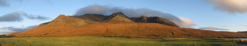 El Cuillin de la cañada quebradiza, isla de Skye foto de archivo libre de regalías