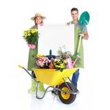 El cultivar un huerto Foto de archivo