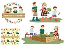 El cultivar un huerto de los niños Imágenes de archivo libres de regalías